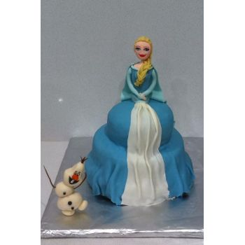 Birthday Cake - Elsa And Olaf Frozen Themed